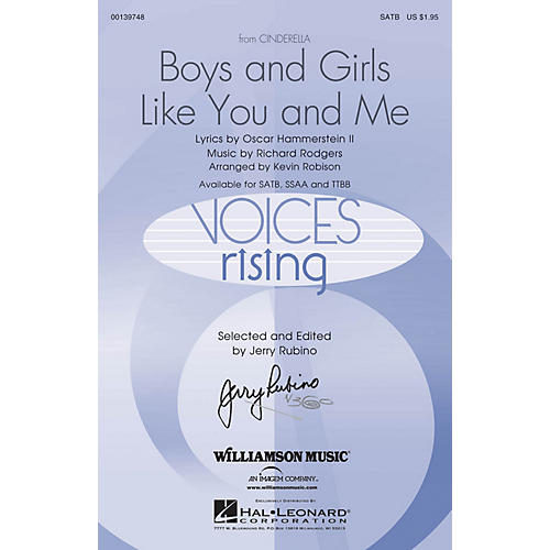Hal Leonard Boys and Girls Like You and Me (from Cinderella) SSAA Arranged by Kevin Robison thumbnail