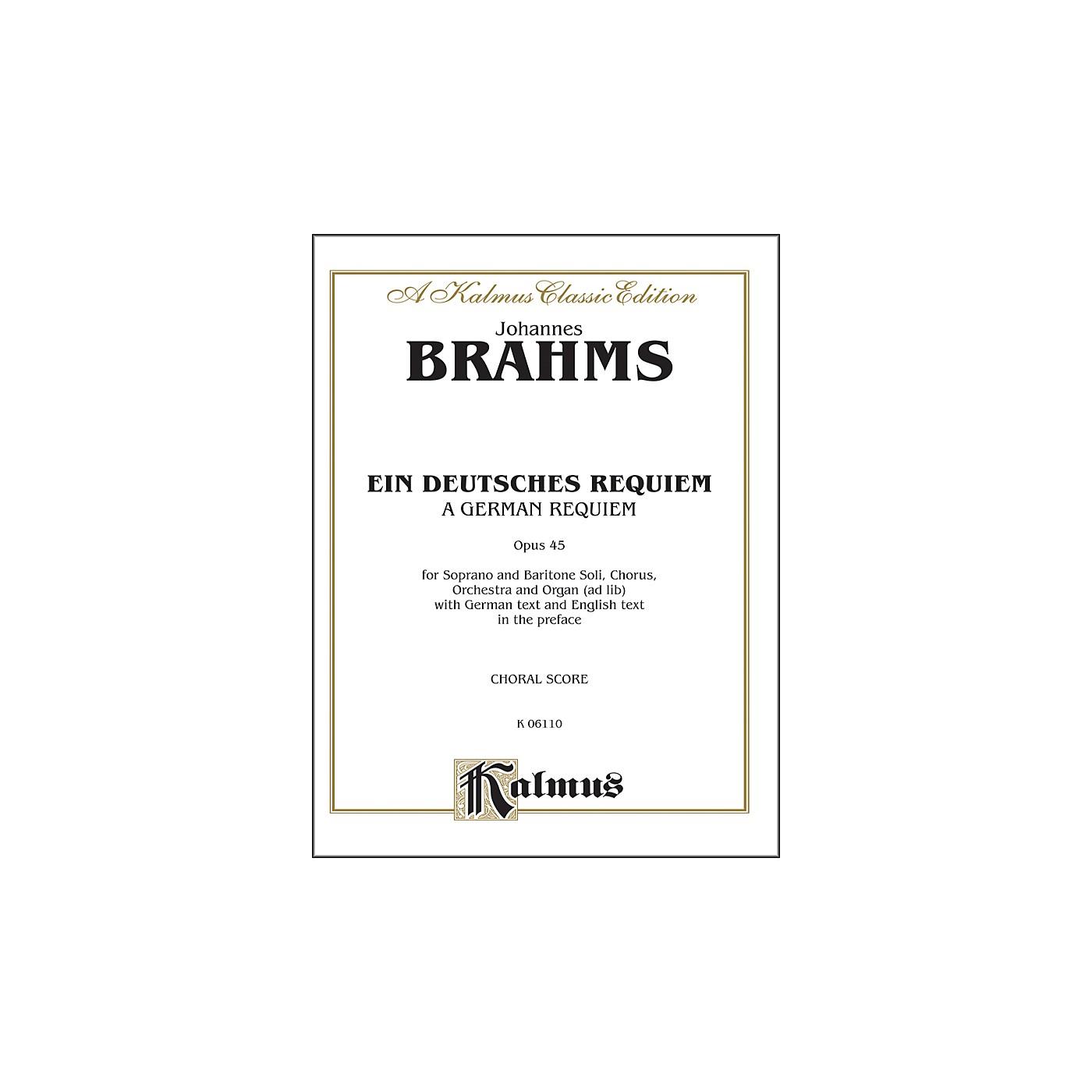Alfred Brahms German Requiem (Ein Deutsches Requiem) Op. 45 SATB with S. Bar Soli thumbnail