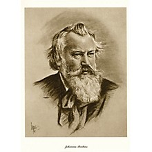 Music Sales Brahms (Lupas Large Portrait Poster) Music Sales America Series