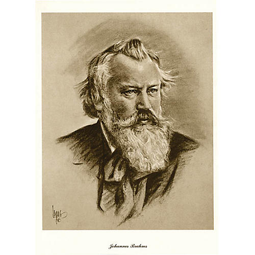 Music Sales Brahms (Lupas Large Portrait Poster) Music Sales America Series thumbnail