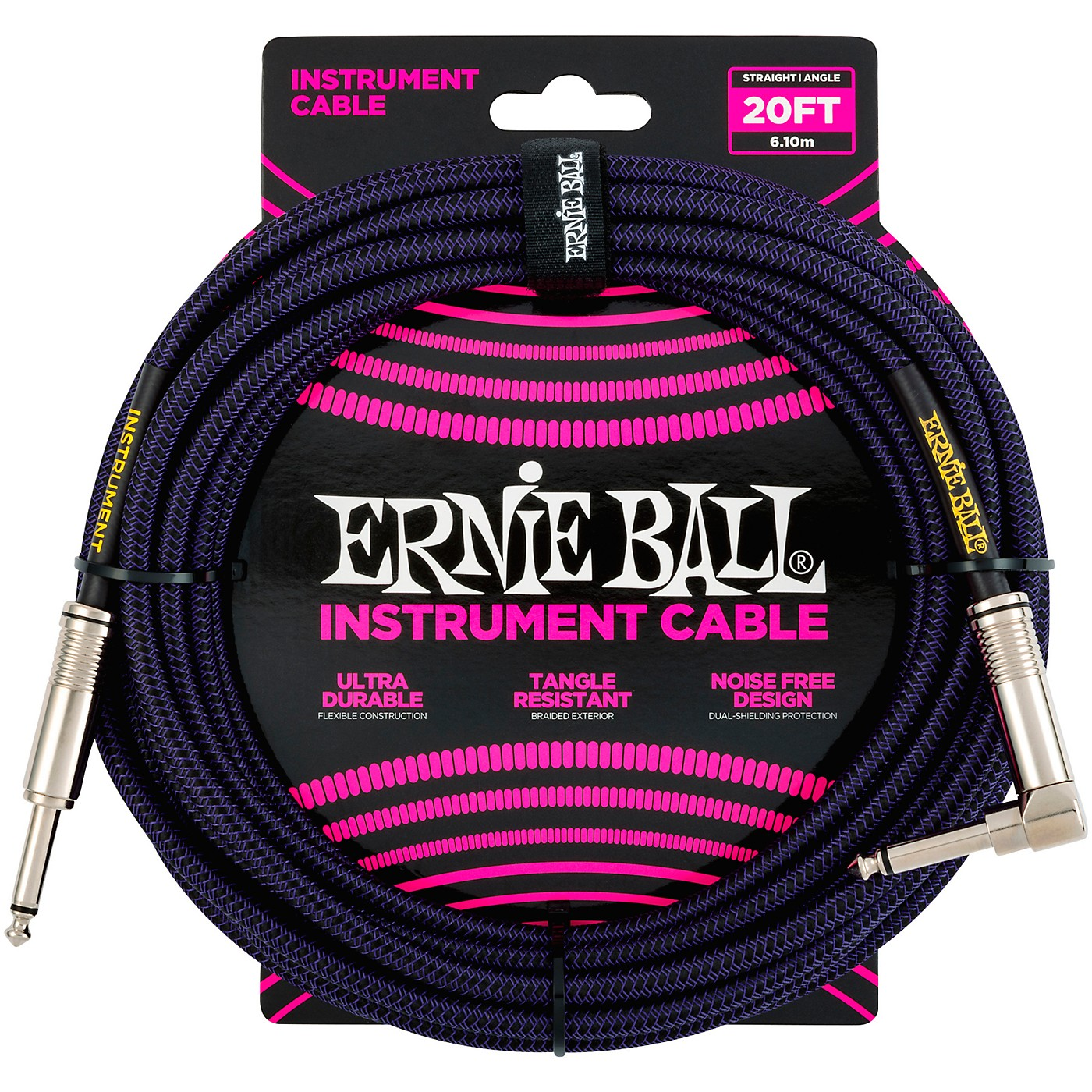 Ernie Ball Braided Straight to Angle Instrument Cable thumbnail