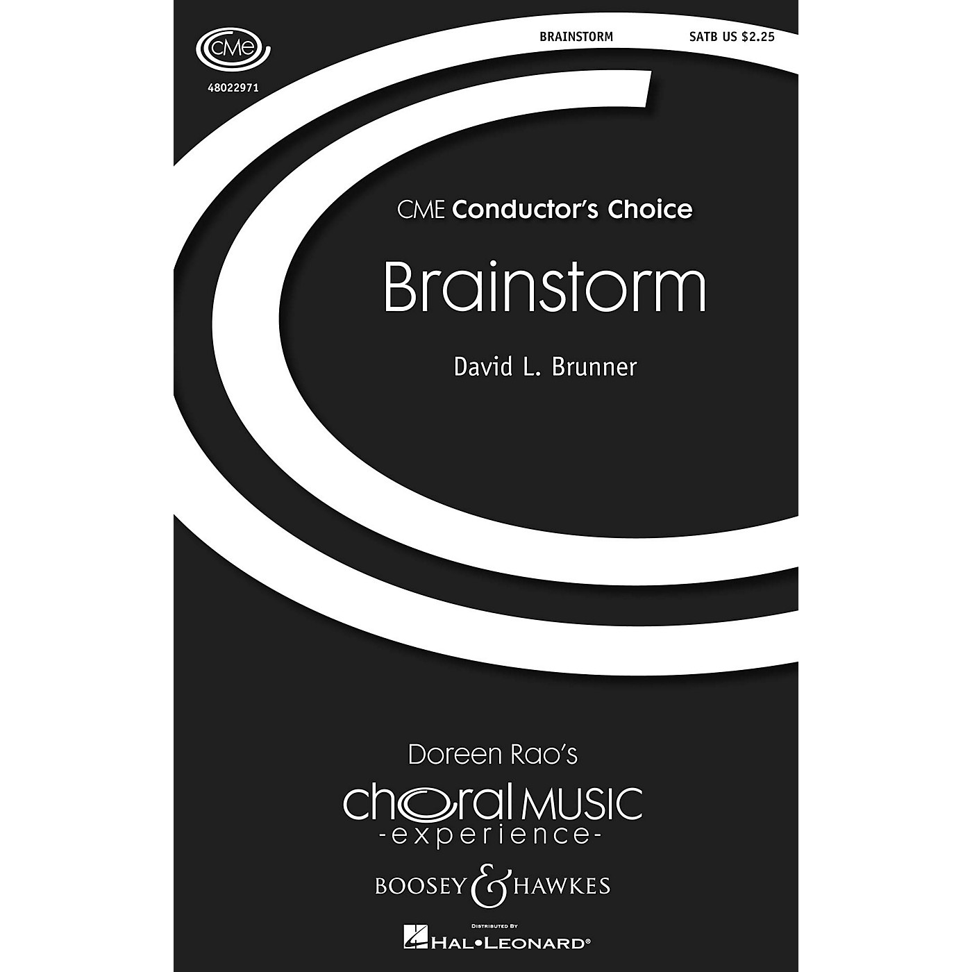 Boosey and Hawkes Brainstorm (CME Conductor's Choice) SATB composed by David L. Brunner thumbnail