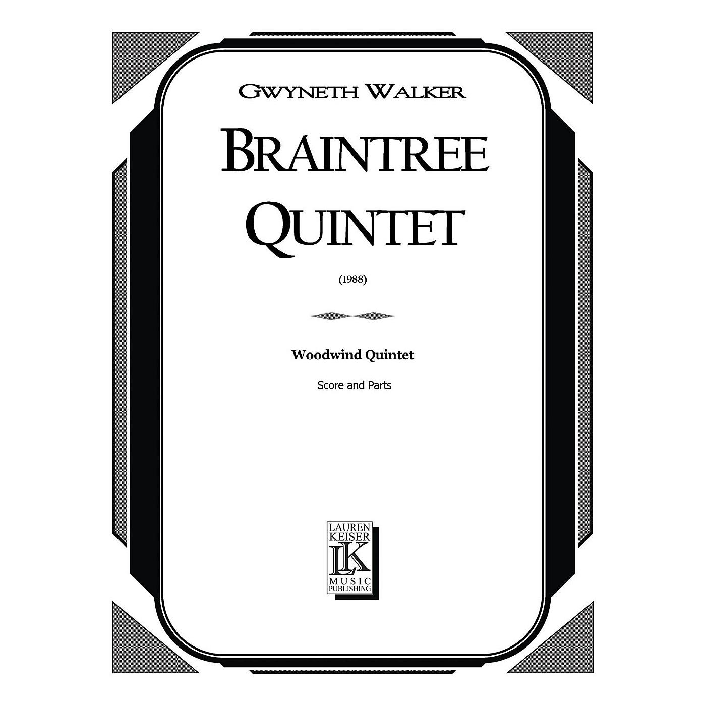 Lauren Keiser Music Publishing Braintree Quintet (Woodwind Quintet) LKM Music Series by Gwyneth Walker thumbnail