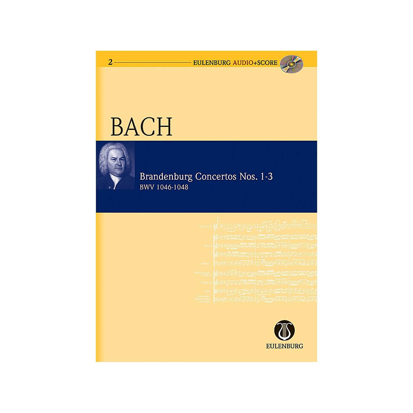 Eulenburg Brandenburg Concertos 1-3 BWV 1046/1047/1048 Eulenberg Audio plus Score with CD by Bach thumbnail
