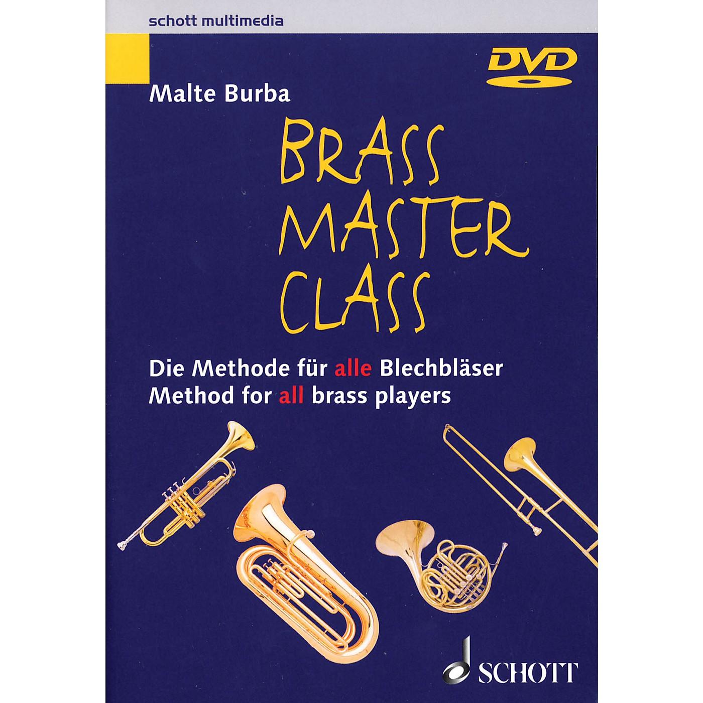 Schott Brass Master Class (Method for All Brass Players DVD (NTSC)) Brass Series DVD  by Malte Burba thumbnail