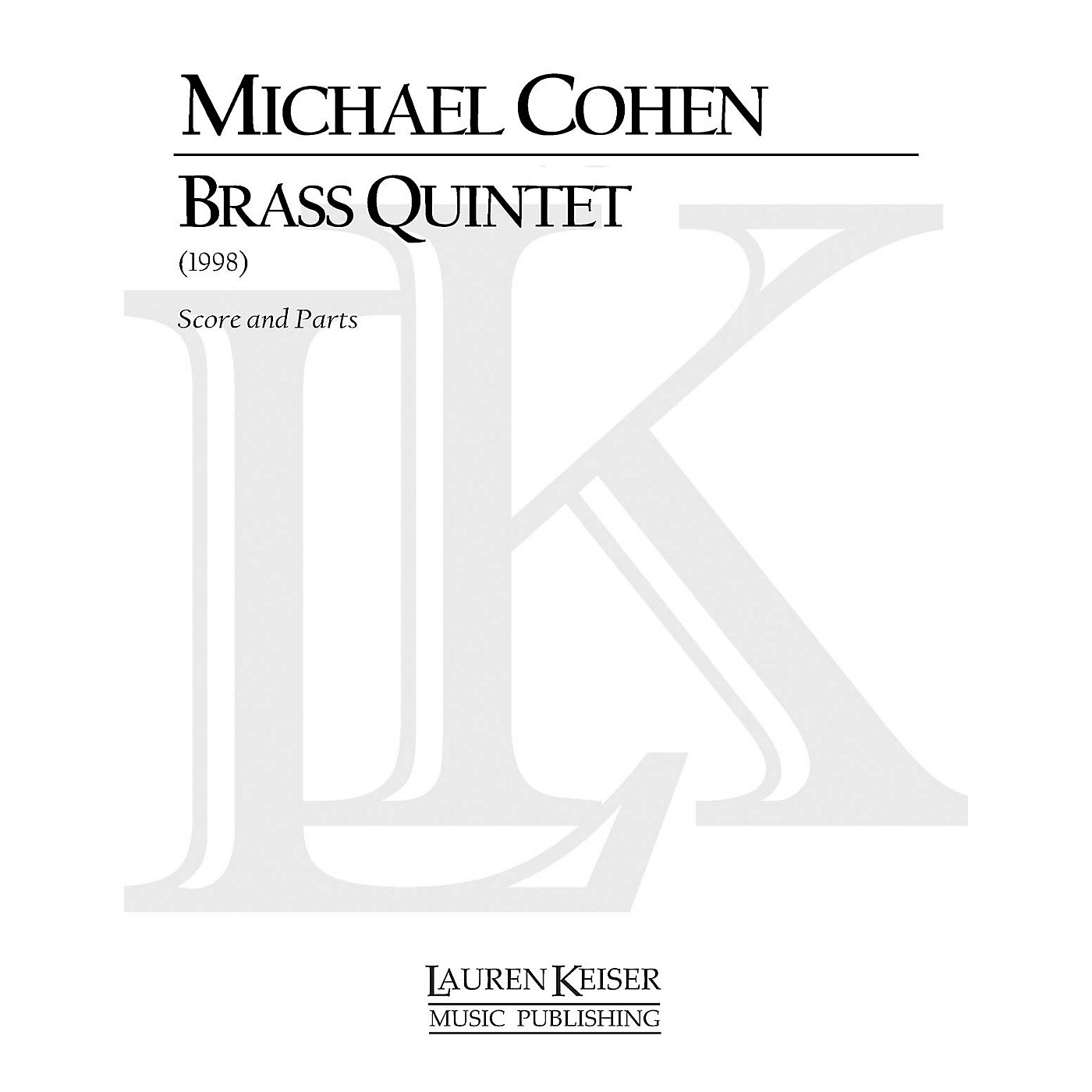 Lauren Keiser Music Publishing Brass Quintet LKM Music Series by Michael Cohen thumbnail