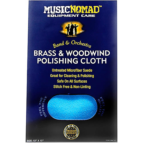 Music Nomad Brass & Woodwind Untreated Microfiber Polishing Cloth thumbnail