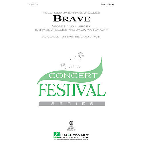Hal Leonard Brave 2-Part by Sara Bareilles Arranged by Audrey Snyder thumbnail