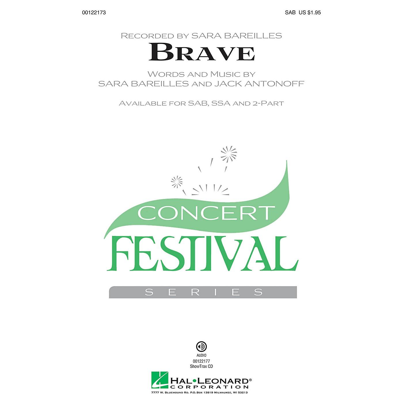 Hal Leonard Brave SSA by Sara Bareilles Arranged by Audrey Snyder thumbnail