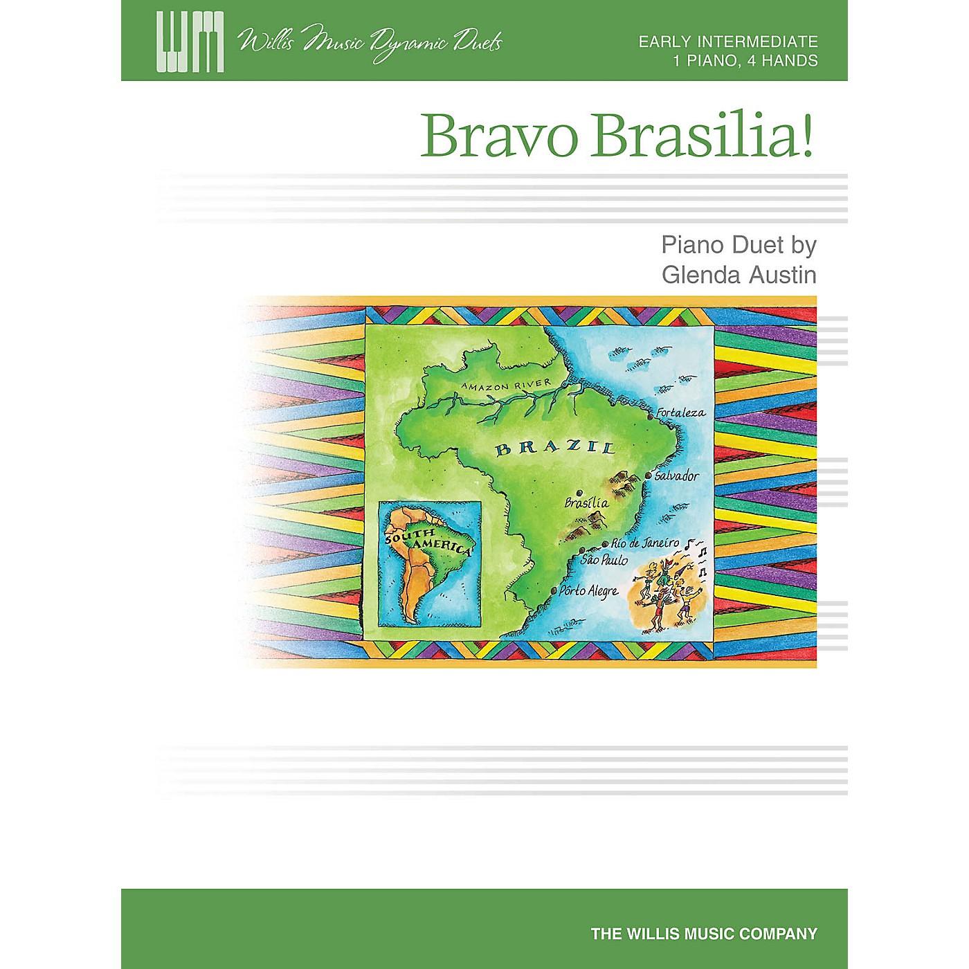 Willis Music Bravo Brasilia! (1 Piano, 4 Hands/Early Inter Level) Willis Series by Glenda Austin thumbnail