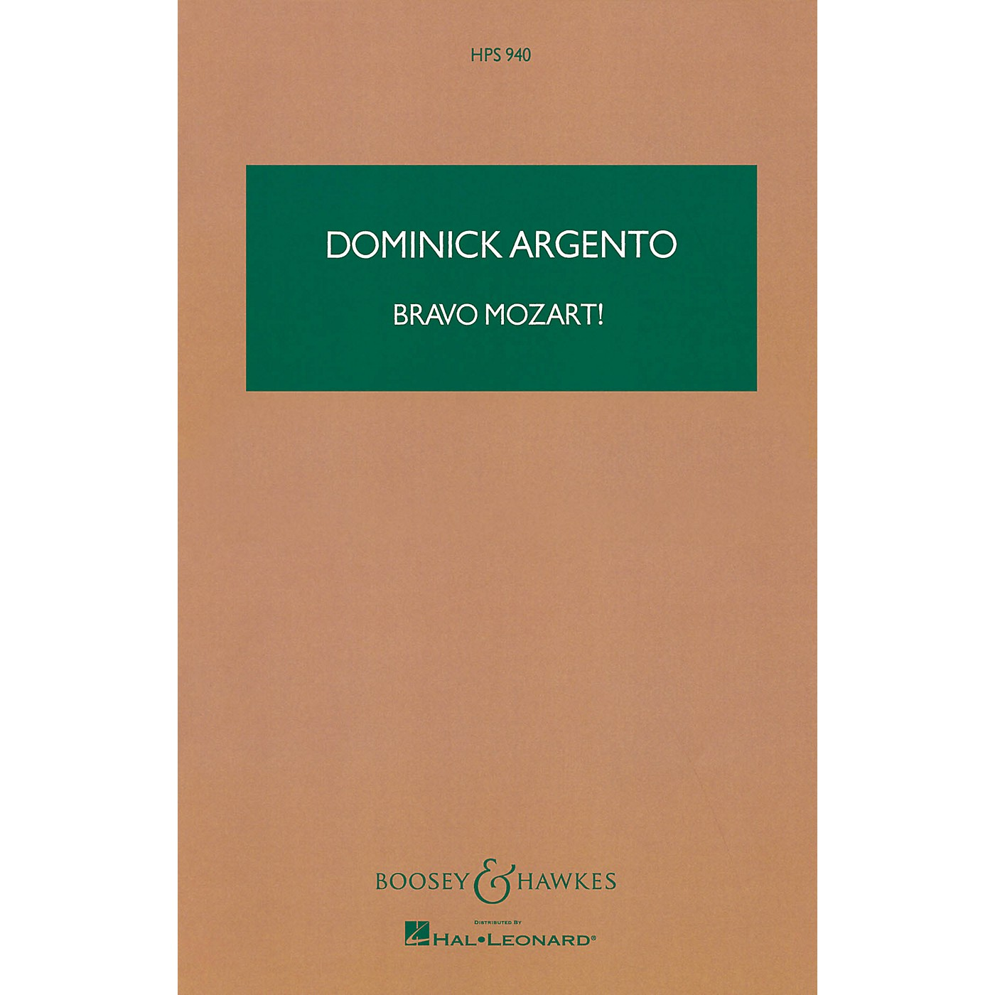 Boosey and Hawkes Bravo Mozart! Boosey & Hawkes Scores/Books Series Composed by Dominick Argento thumbnail
