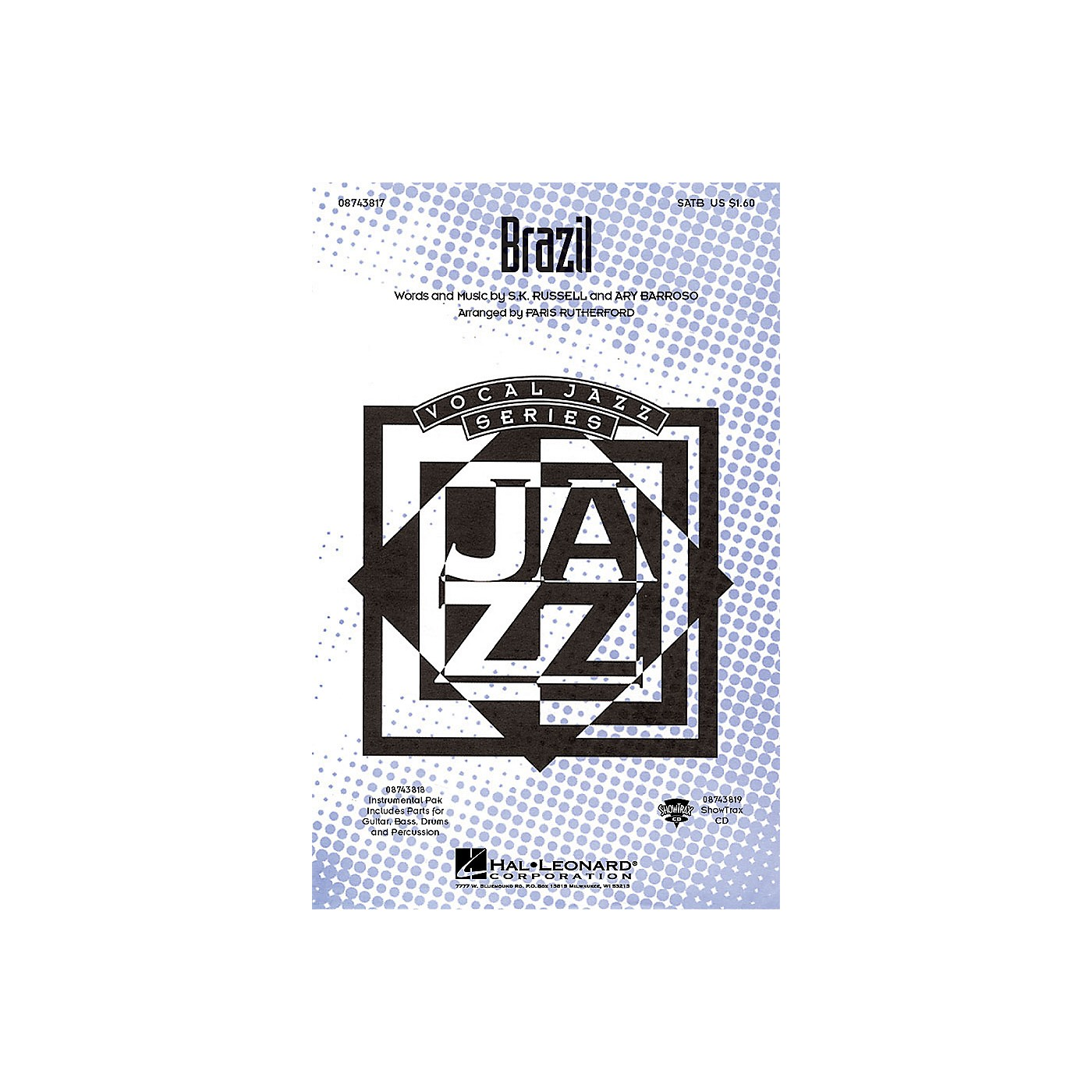 Hal Leonard Brazil IPAKR Arranged by Paris Rutherford thumbnail