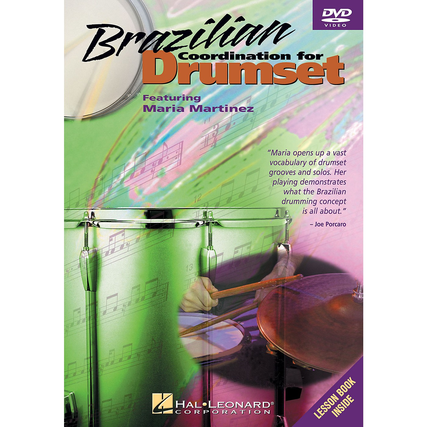 Hal Leonard Brazilian Coordination for Drumset Instructional/Drum/DVD Series DVD Written by Maria Martinez thumbnail