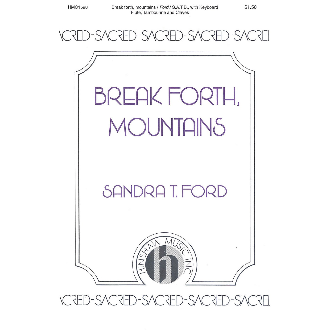 Hinshaw Music Break Forth, Mountains SATB composed by Ford thumbnail
