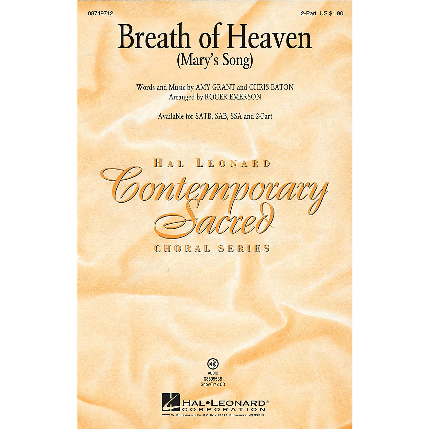 Hal Leonard Breath of Heaven (Mary's Song) 2-Part by Amy Grant arranged by Roger Emerson thumbnail