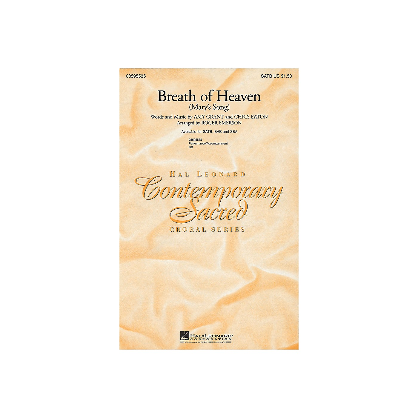 Hal Leonard Breath of Heaven (Mary's Song) SAB by Amy Grant Arranged by Roger Emerson thumbnail