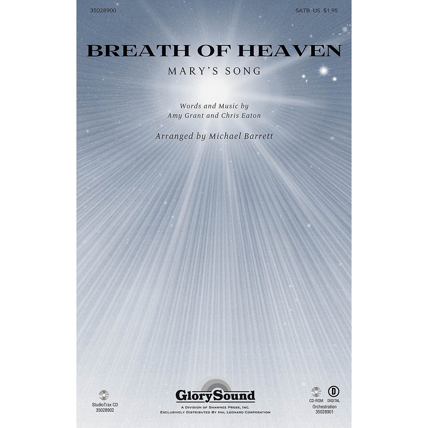 Shawnee Press Breath of Heaven (from All Is Well) SATB by Amy Grant arranged by Michael Barrett thumbnail