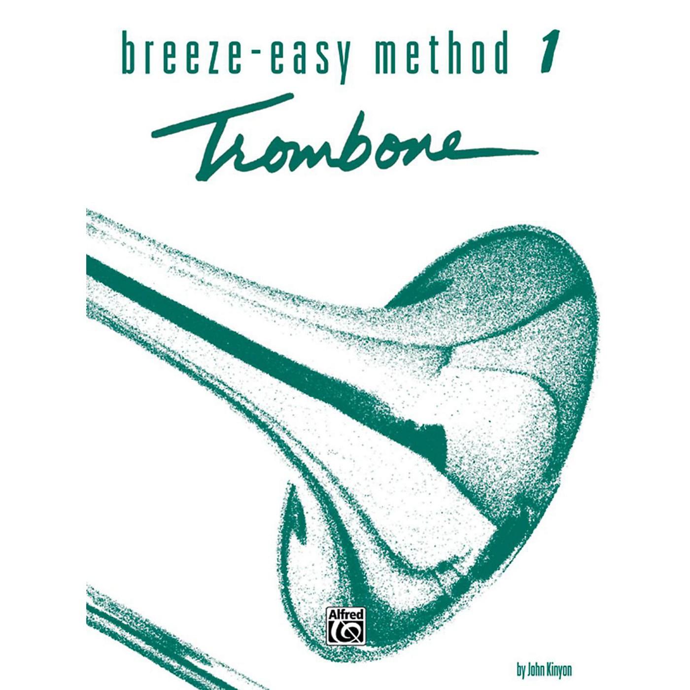 Alfred Breeze-Easy Method for Trombone or Baritone Book I thumbnail