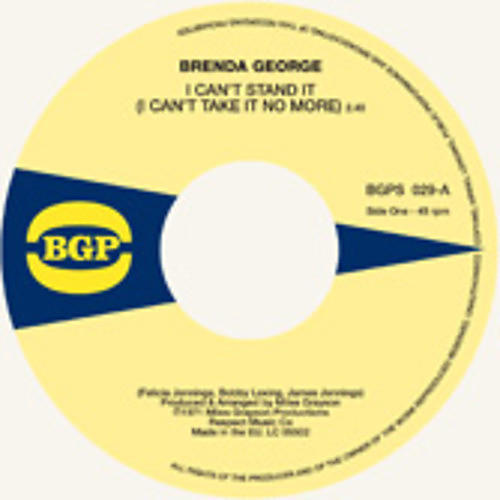 Alliance Brenda George - I Can't Stand It / What You See Is What You're thumbnail