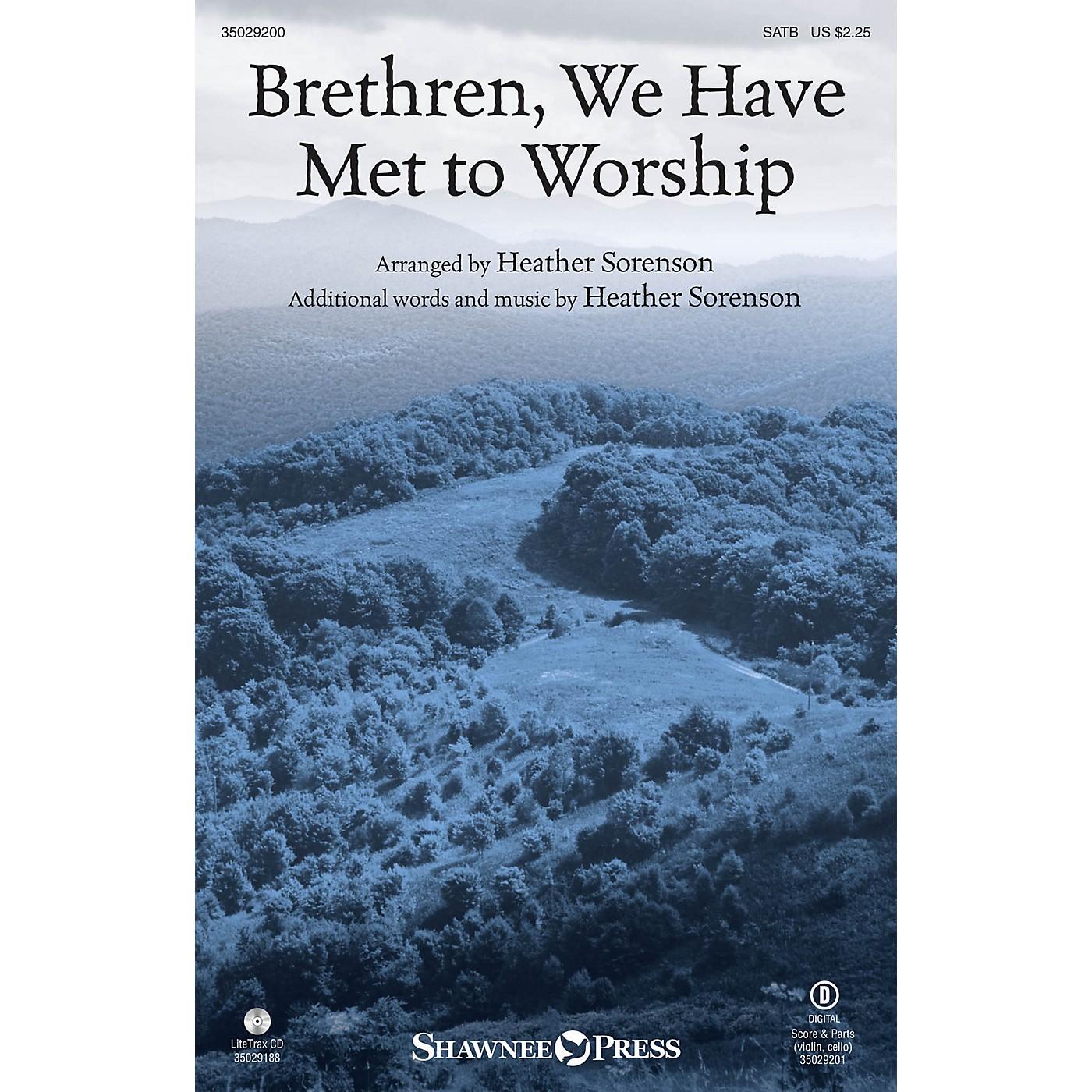 Shawnee Press Brethren, We Have Met to Worship SATB arranged by Heather Sorenson thumbnail
