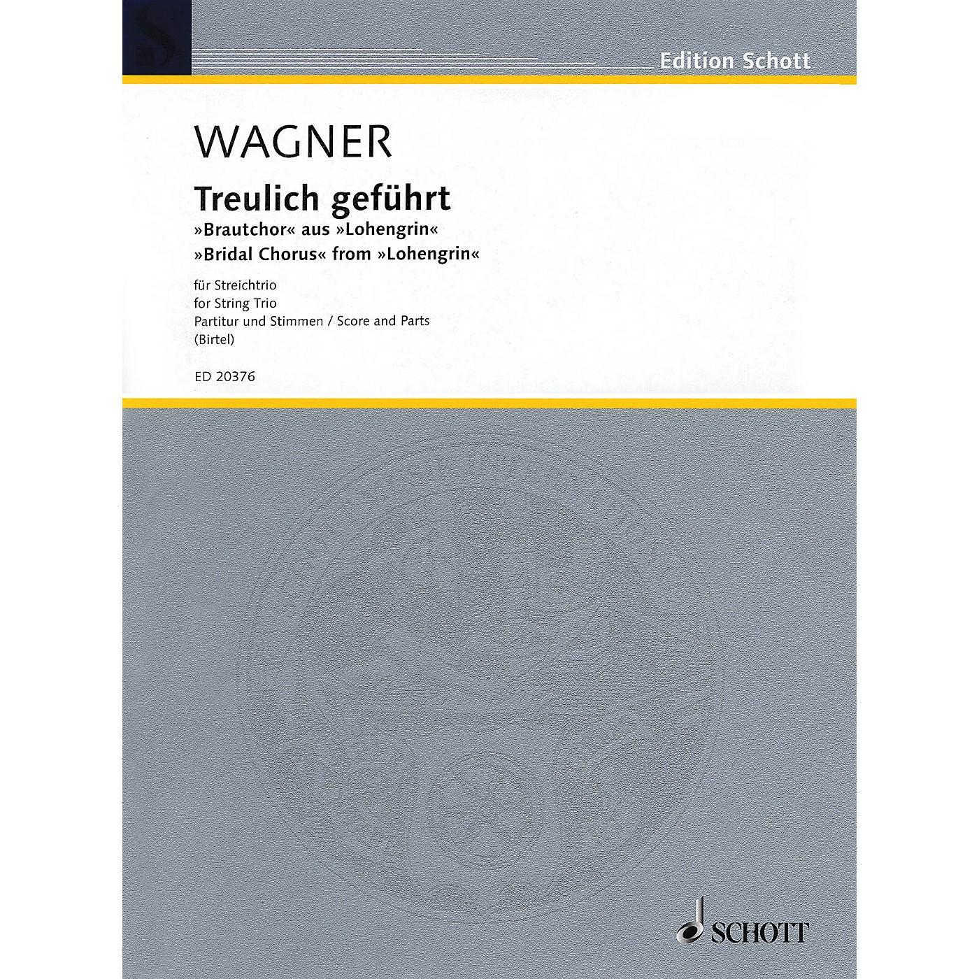 Schott Music Bridal Chorus from Lohengrin (String Trio - Violin, Viola, Cello) String Series by Richard Wagner thumbnail
