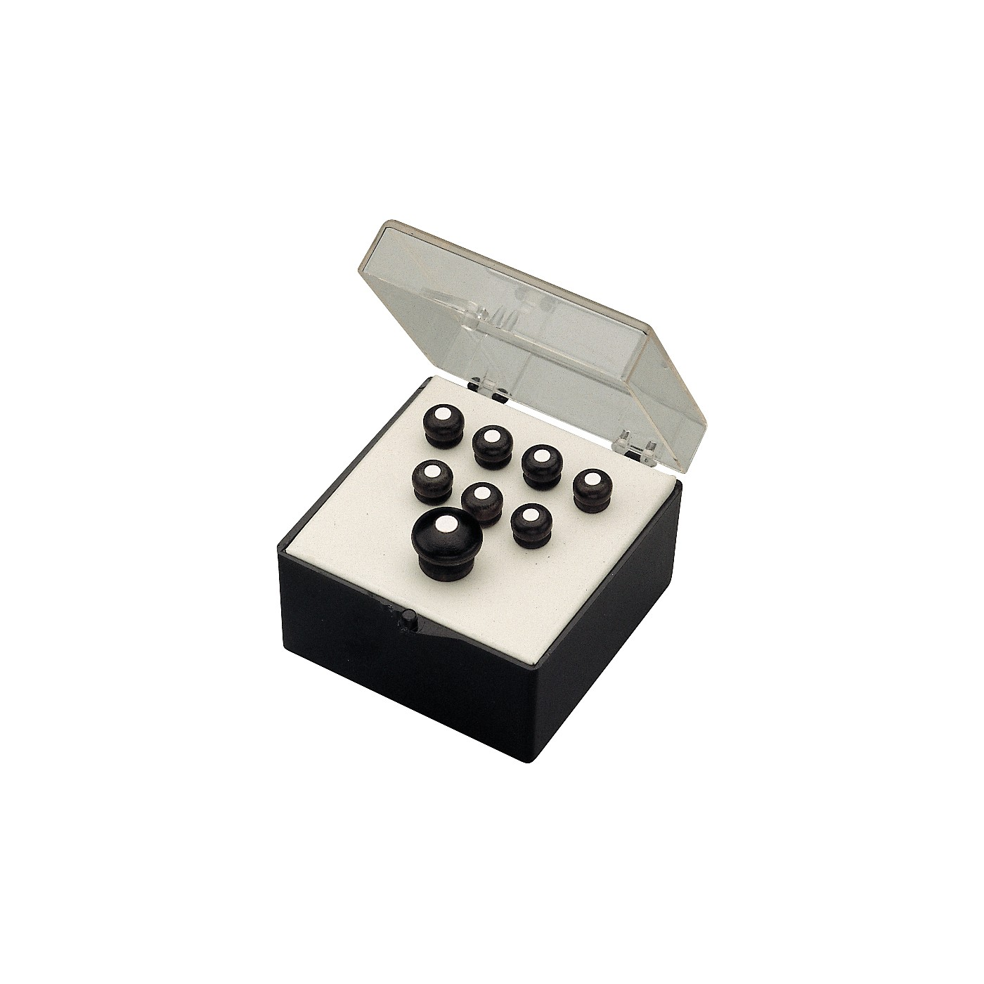 Martin Bridge and End Pin Set in Black with White Dots thumbnail