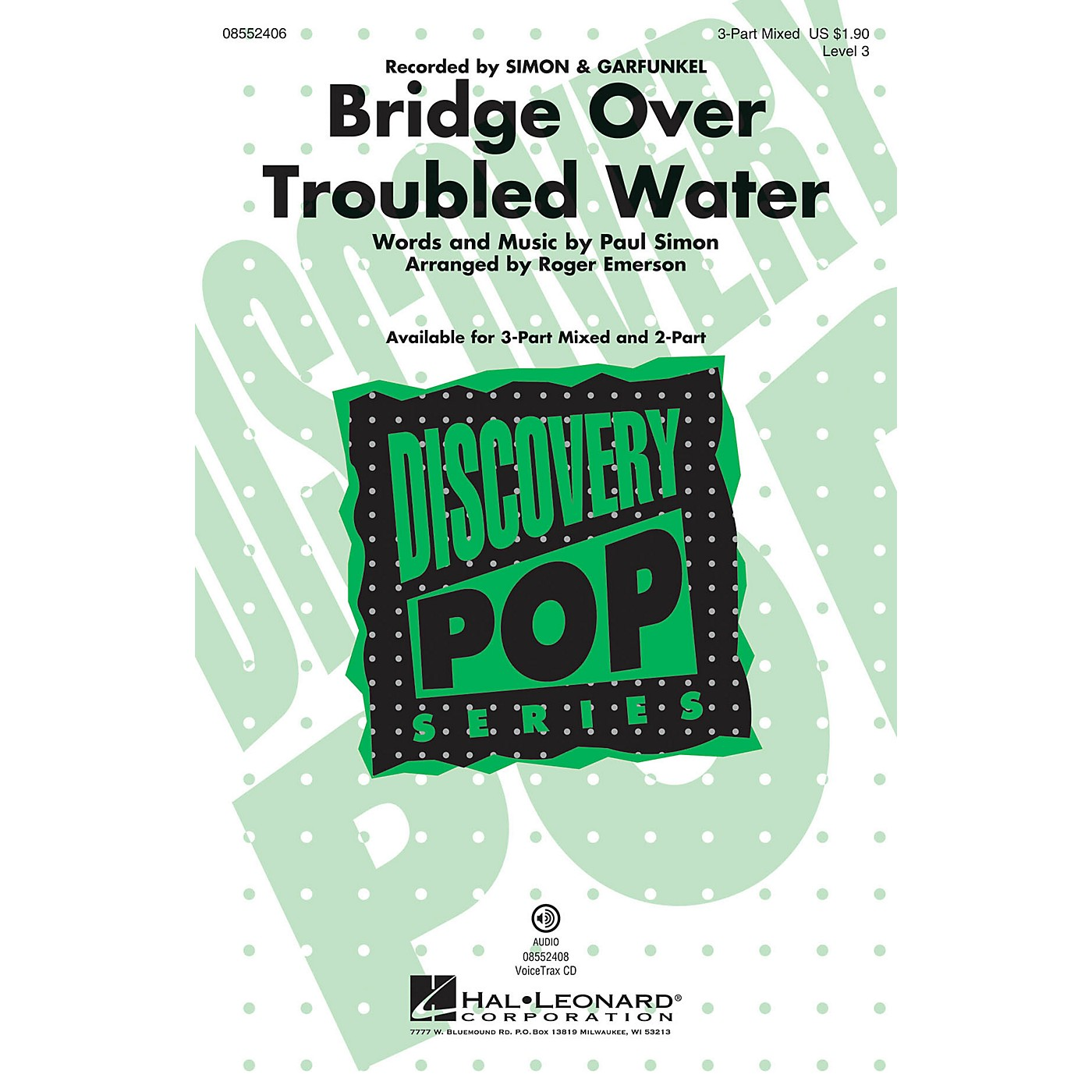 Hal Leonard Bridge over Troubled Water (Discovery Level 3) 2-Part by Simon & Garfunkel Arranged by Roger Emerson thumbnail