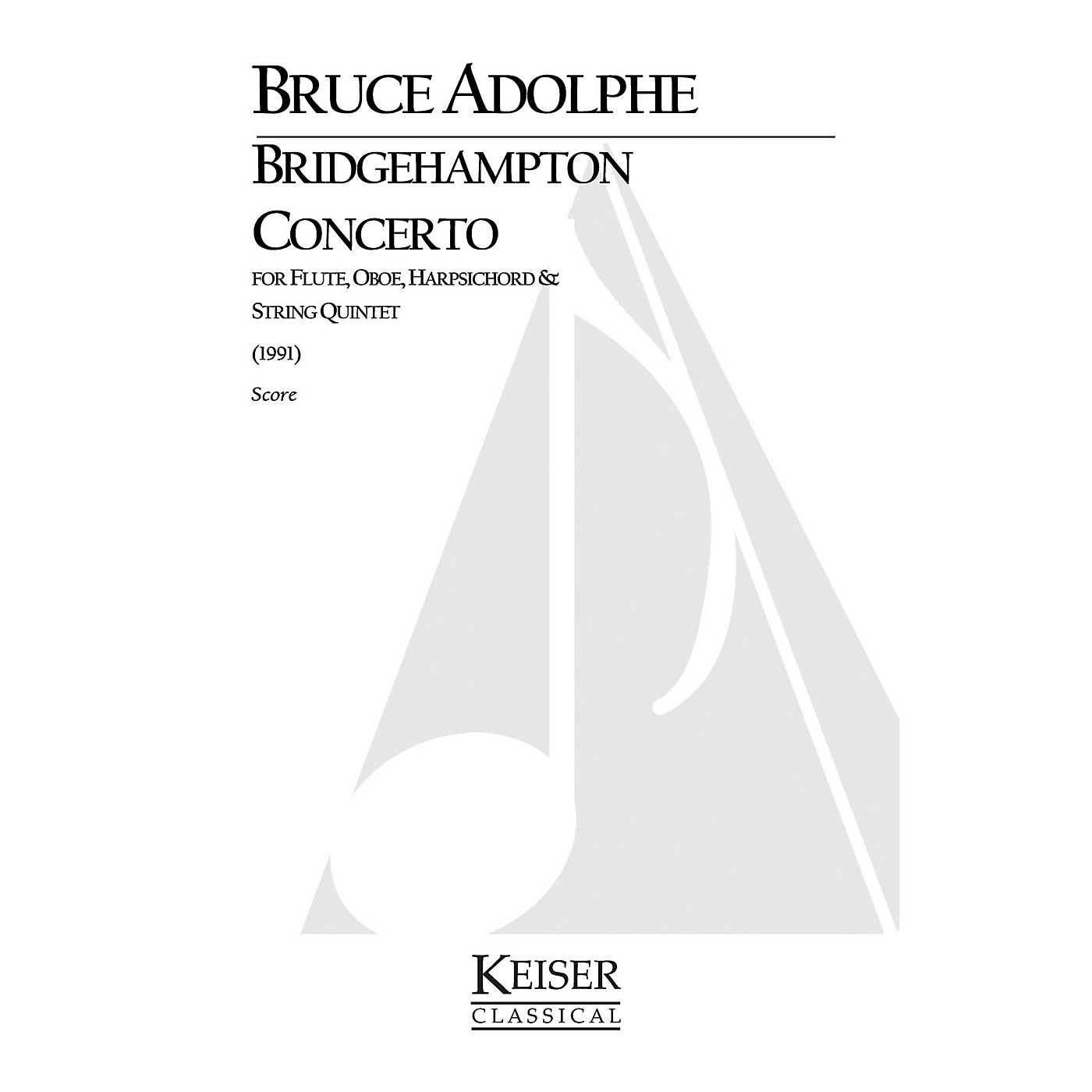 Lauren Keiser Music Publishing Bridgehampton Concerto for Mixed Octet, Full Score LKM Music Series by Bruce Adolphe thumbnail
