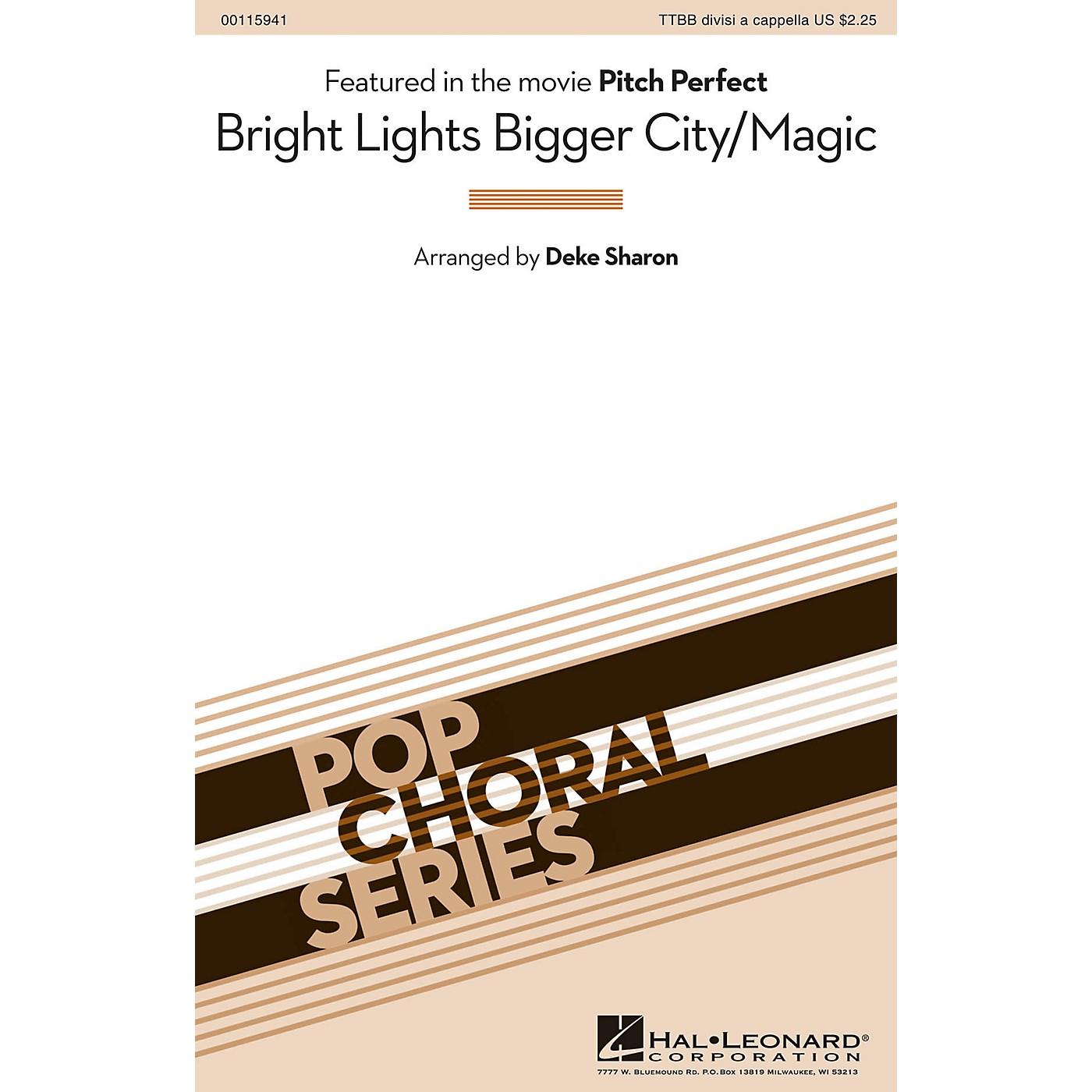 Hal Leonard Bright Lights Bigger City/Magic (from Pitch Perfect) TTBB A Cappella by B.o.B. arranged by Deke Sharon thumbnail