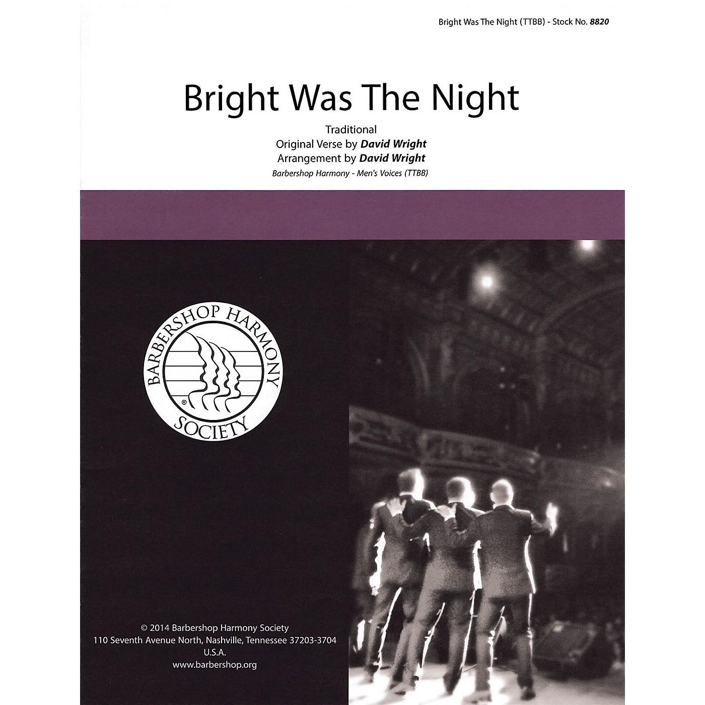 Hal Leonard Bright Was the Night TTBB A Cappella arranged by David Wright thumbnail