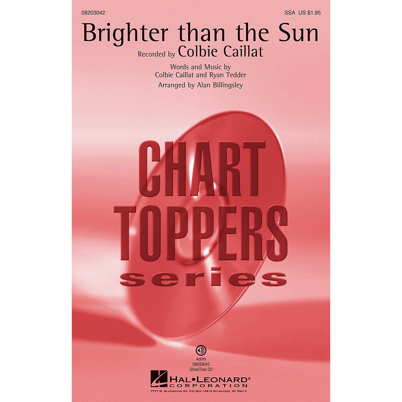 Hal Leonard Brighter Than the Sun ShowTrax CD by Colbie Caillat Arranged by Alan Billingsley thumbnail