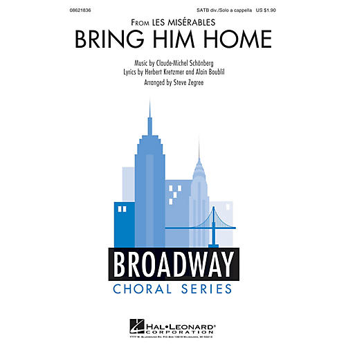 Hal Leonard Bring Him Home (from Les Misérables) SATB DIVISI arranged by Steve Zegree thumbnail