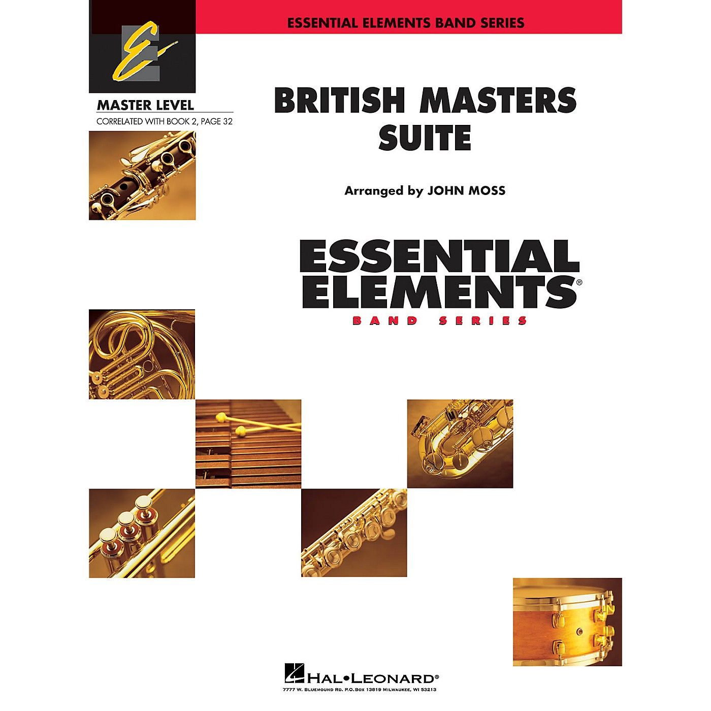Hal Leonard British Masters Suite (Includes Full Performance CD) Concert Band Level 2 Arranged by John Moss thumbnail