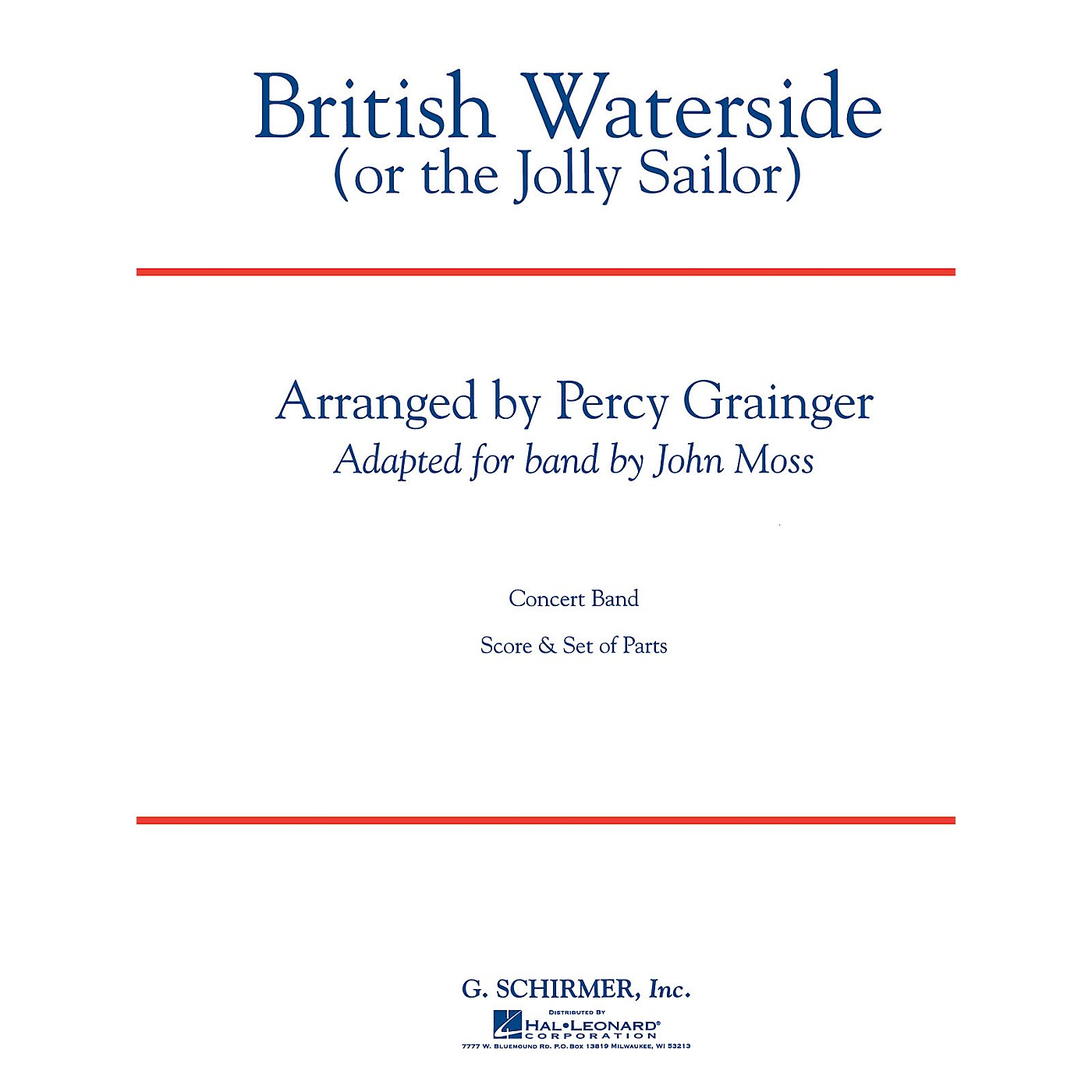 G. Schirmer British Waterside Score (Or The Jolly Sailor) Concert Band Composed by P Grainger thumbnail