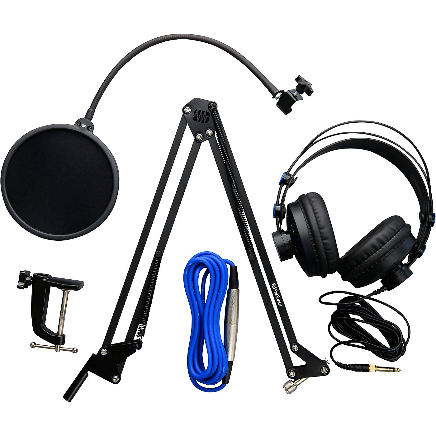 Presonus Broadcast Accessory Pack - Includes Microphone Boom Arm, Pop Filter, HD-7 Headphones & XLR Cable thumbnail