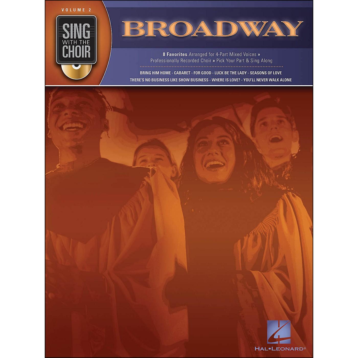 Hal Leonard Broadway - Sing with The Choir Series Volume 2 Book/CD thumbnail