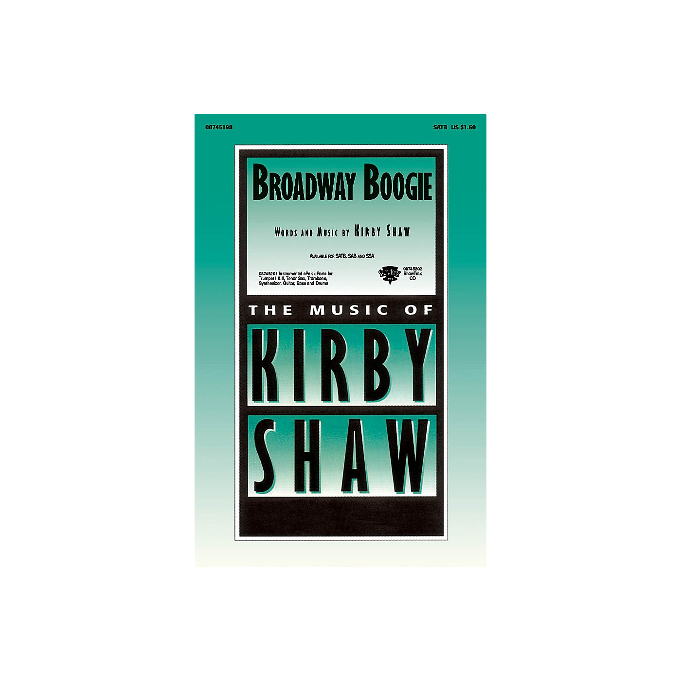 Hal Leonard Broadway Boogie ShowTrax CD Composed by Kirby Shaw thumbnail