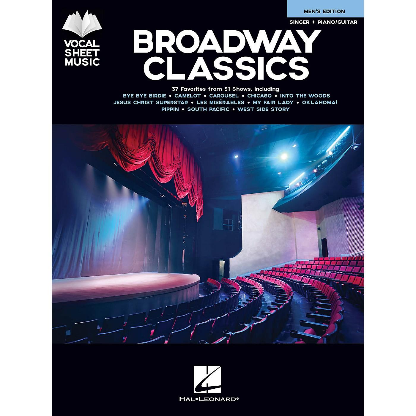 Hal Leonard Broadway Classics - Men's Edition (Singer + Piano/Guitar) Vocal Sheet Series Songbook thumbnail
