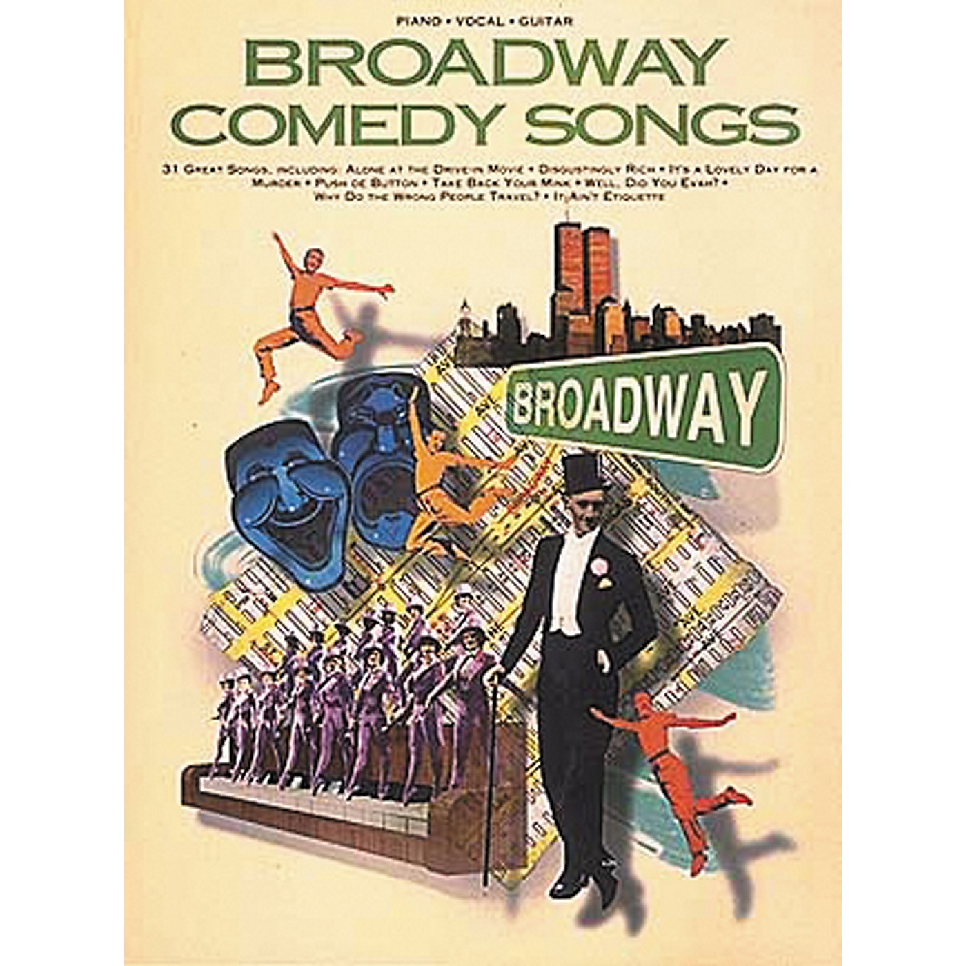 Hal Leonard Broadway Comedy Songs Piano, Vocal, Guitar Songbook thumbnail