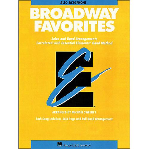 Hal Leonard Broadway Favorites Alto Saxophone Essential Elements Band thumbnail