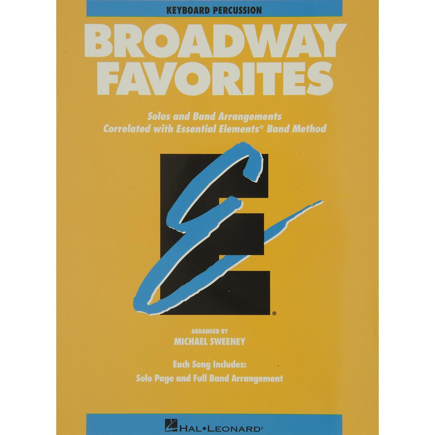 Hal Leonard Broadway Favorites Keyboard Percussion Essential Elements Band thumbnail