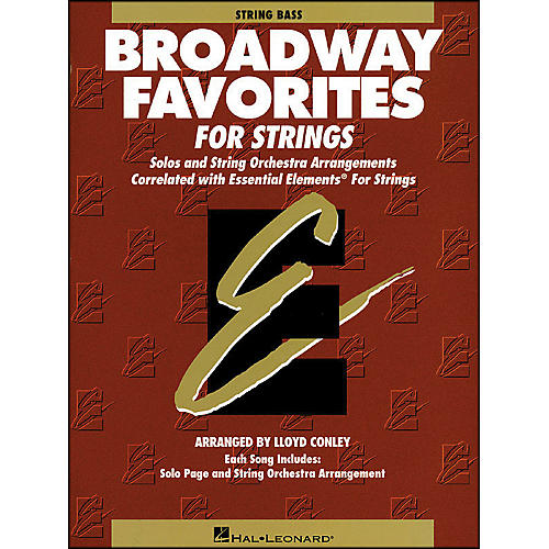 Hal Leonard Broadway Favorites for Strings String Bass Essential Elements thumbnail