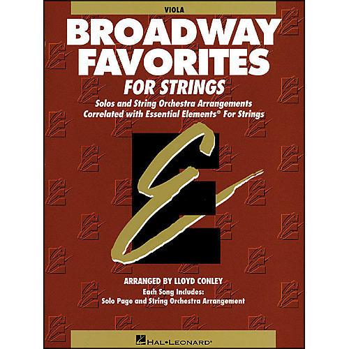 Hal Leonard Broadway Favorites for Strings Viola Essential Elements thumbnail