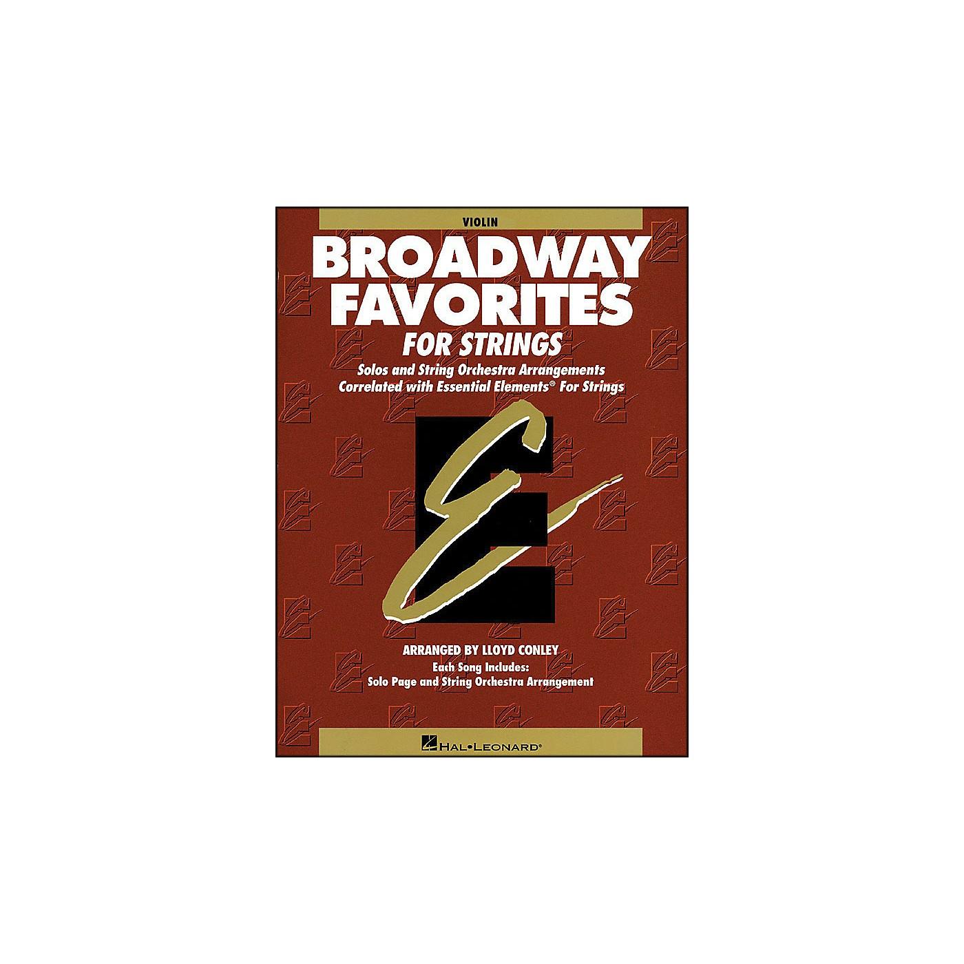 Hal Leonard Broadway Favorites for Strings Violin Essential Elements thumbnail