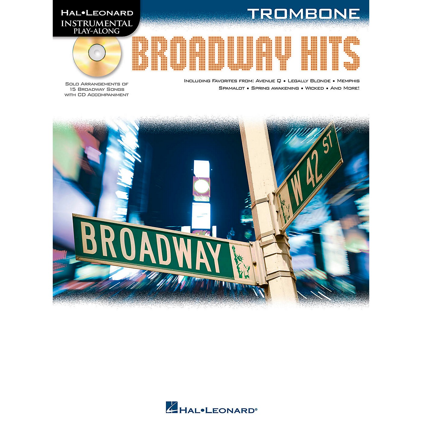 Hal Leonard Broadway Hits For Trombone - Instrumental Play-Along Book/CD thumbnail