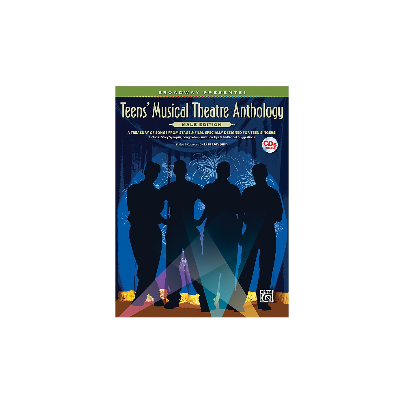 Alfred Broadway Presents! Teens' Musical Theatre Anthology Male Edition Book & Online Audio thumbnail