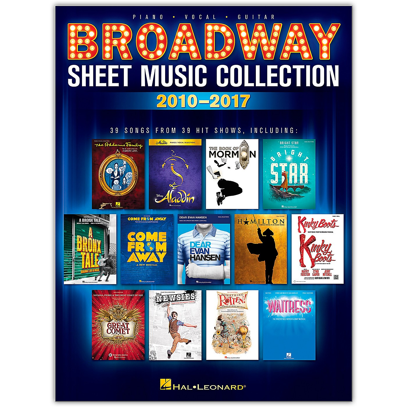 Hal Leonard Broadway Sheet Music Collection: 2010-2017 Piano/Vocal/Guitar Songbook thumbnail