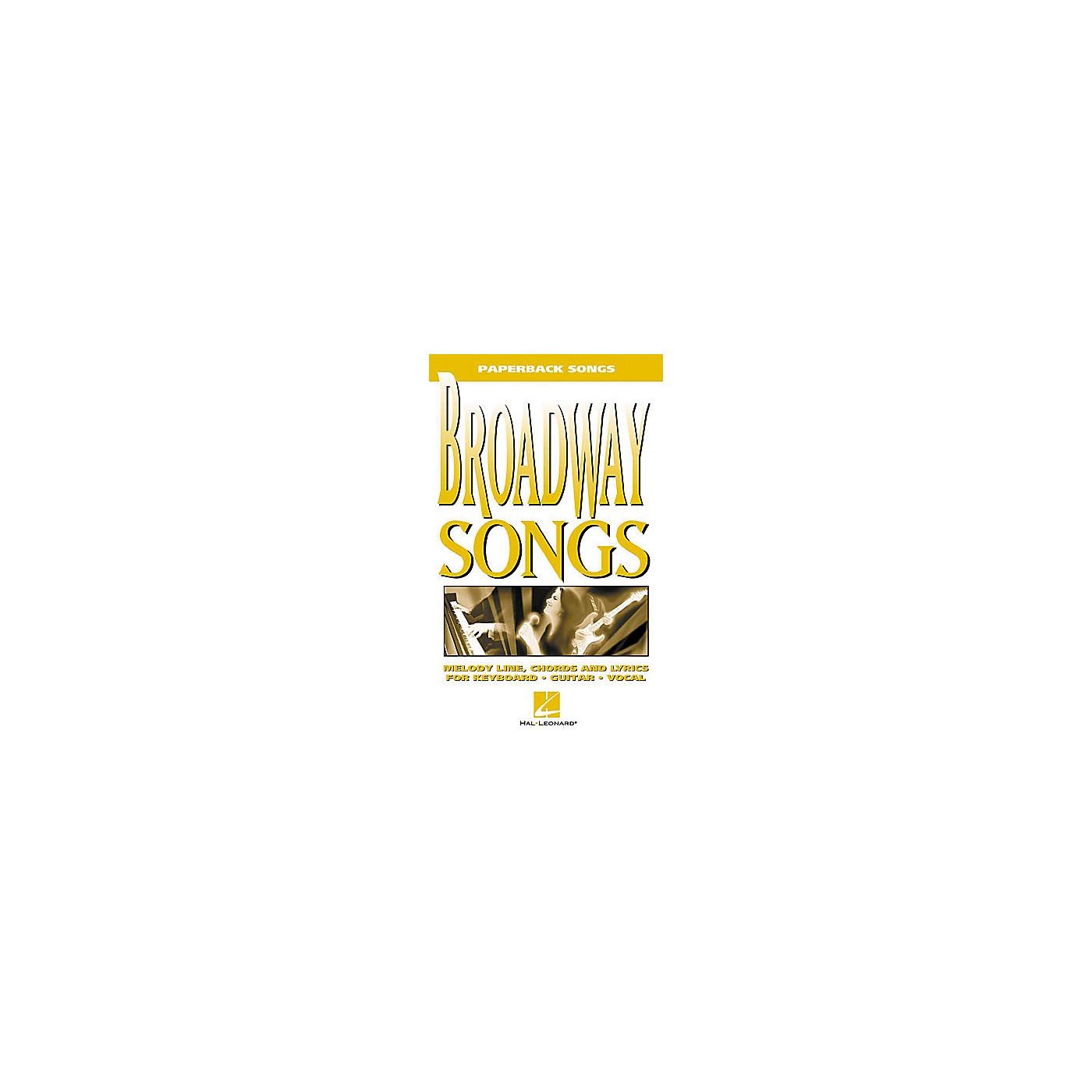 Hal Leonard Broadway Songs Book thumbnail