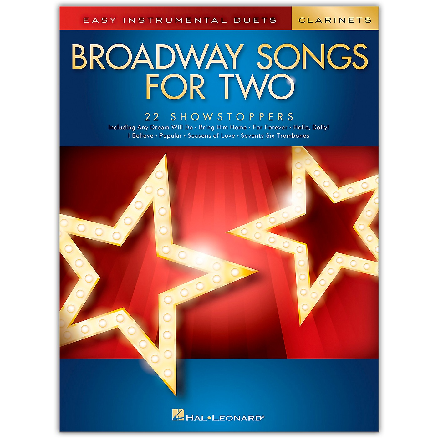 Hal Leonard Broadway Songs for Two Clarinets - Easy Instrumental Duets thumbnail