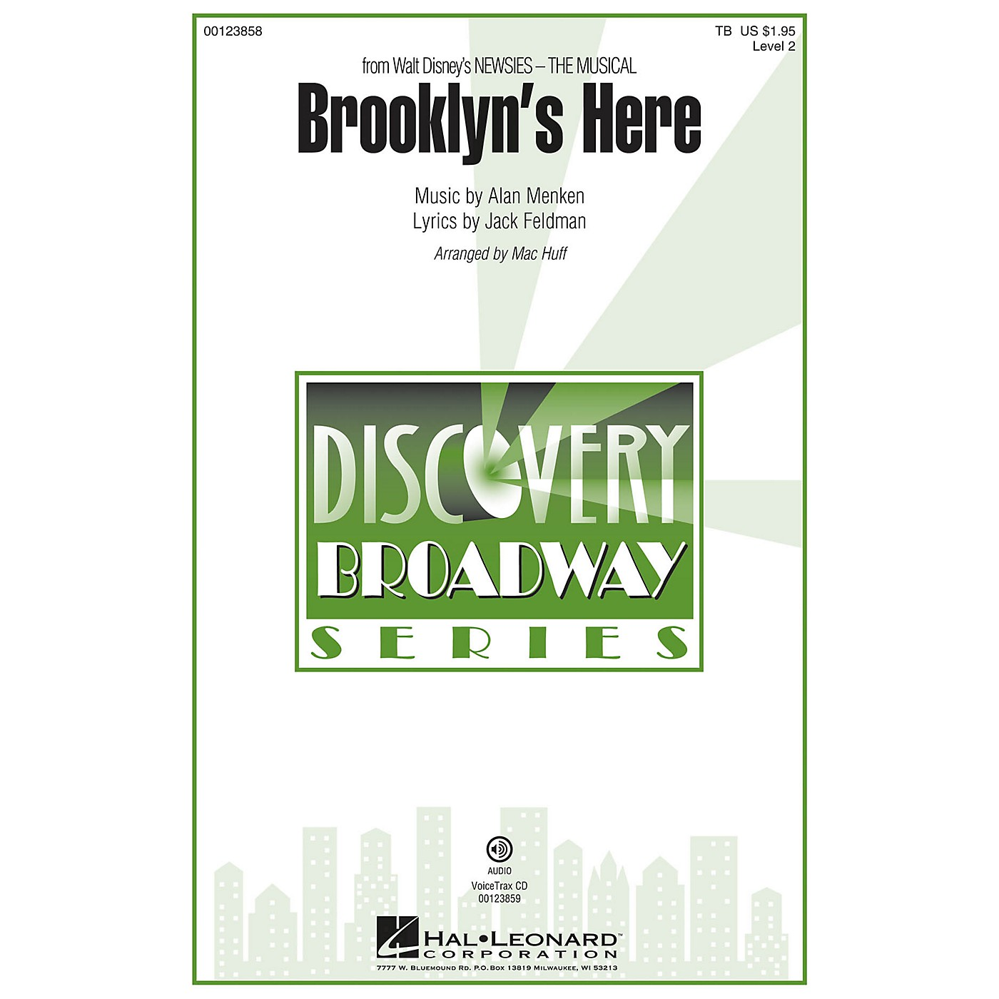 Hal Leonard Brooklyn's Here (from Newsies - The Musical) Discovery Level 2 VoiceTrax CD Arranged by Mac Huff thumbnail